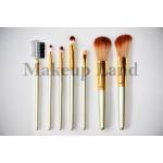 Набор кистей для макияжа в золотом чехле 7 шт